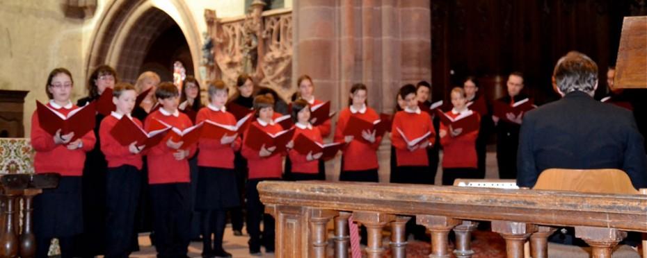 La Maîtrise de la Cathédrale de Metz,direction Christophe Bergossi, le 27 mars 2011, à l'abbatiale de Neuwiller