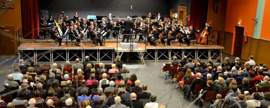 L'Orchestre d'Harmonie de l'Electricité de Strasbourg, le 27 janvier 2013 au Centre Culturel Marie Hart