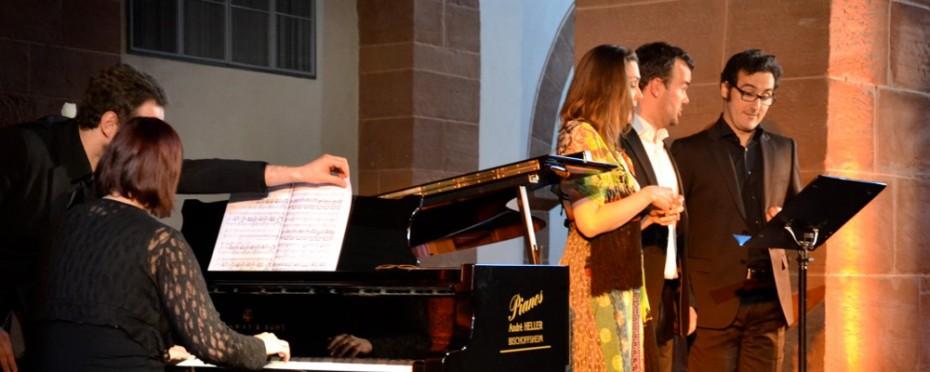 Gala lyrique avec Nathalie Gaudefroy, soprano, Xavier de Lignerolles, ténor, Jean-Gabriel Saint-Martin, baryton et Vérène Rimlinger, piano, le 5 mai 2013 à l'Eglise Saint-Adelphe de Neuwiller-lès-Saverne