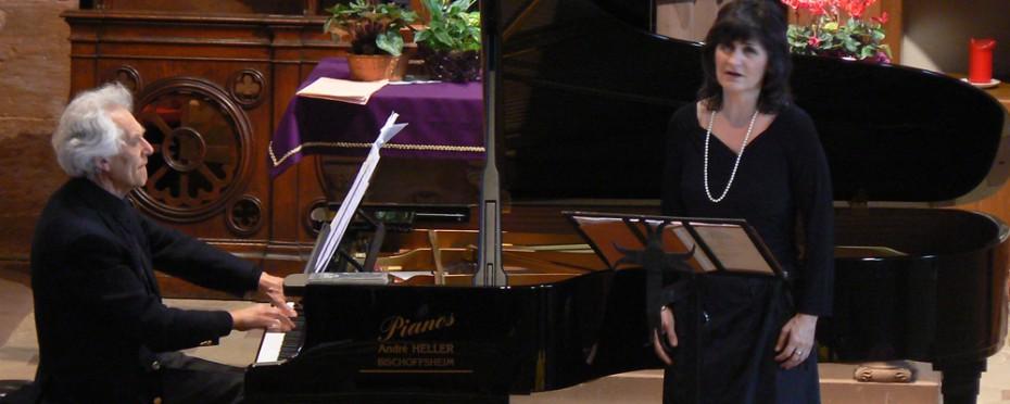 Brigiite Balleys, mezzo-soprano et Daniel Spiegelberg, piano
