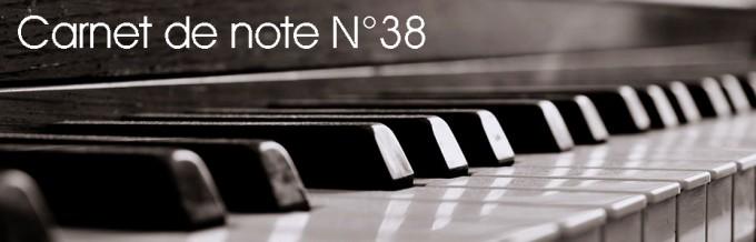 Carnet de note n°38